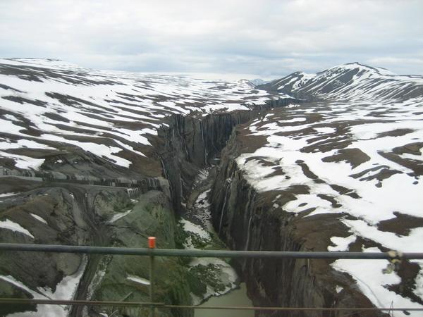 Hamrahvammagljúfur séð úr rútunni á heimleið